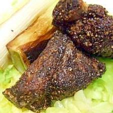 スペアリブ黒胡椒焼き