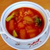 「基本のトマトソース」を使った簡単トマトスープ