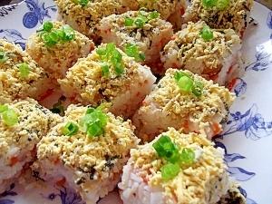 持ち寄りパーティーに☆かんたん・ミモザ押し寿司