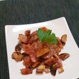 超簡単!松茸とベーコンの炒め物