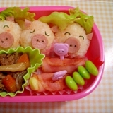 子供が喜ぶ☆3匹の子ブタ弁当☆
