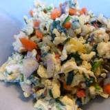 野菜モリモリ、息子ごまかし五目いり卵