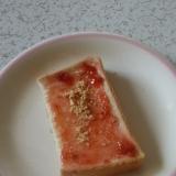 苺ジャムときな粉のトースト