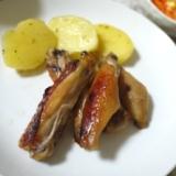 鶏手羽中のオーブン焼き