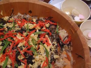 常備菜の万能傘De五目寿司