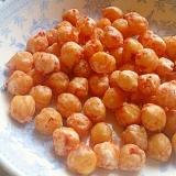 ぽりぽりヘルシーローストひよこ豆、トマトカレー味。