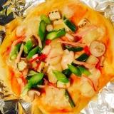 子供と作る色々野菜のピザ