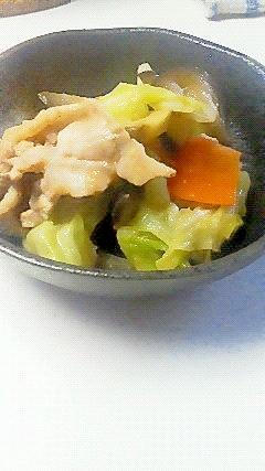 豚肉、キャベツ、ナスの 味噌炒め