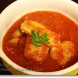 鶏肉のトマト煮込みスープ