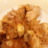 鶏モモ肉の味噌ハニーケチャップマヨ炒め