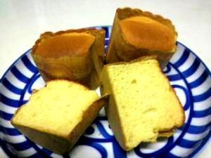 シフォンレシピでカップケーキ