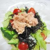 簡単一品 ひじきとツナのわさびドレッシングサラダ