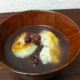 簡単★揚げ焼き餅のおしるこ