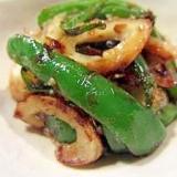 お弁当の緑に ピーマンとちくわのおかか炒め