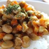 根菜と大豆のドライカレー