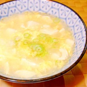 豆腐入り中華風たまご雑炊