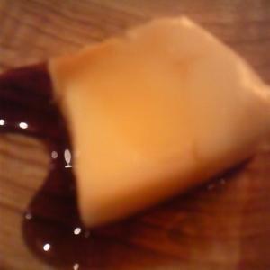 豆乳ゼリーのチョコソースがけ♪