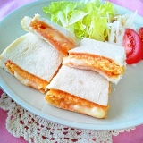 とろ~りチーズと卵のオーロラサンドイッチ