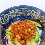 作りおき肉味噌で簡単 そうめんの ジャージャー麺風
