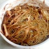 スパゲティー烏賊ブラウンソース