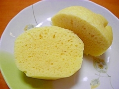 しっとり蒸しパン (型は湯呑利用)