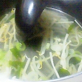 即席♪もやしの中華スープ