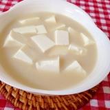 豆腐の豆乳スープ♡