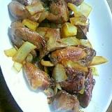 超簡単、市販のタレで作る、美味しい、鶏肝の炒め物