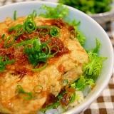鶏ムネ肉と豆腐の超ヘルシーつみれ丼