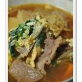 焼き肉のタレで!カルビクッパ風スープ。