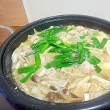 我が家のもつ鍋スープ(味噌味)