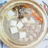 水炊きスープで作る、鍋物