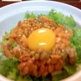 10分で納豆スタミナ丼♪