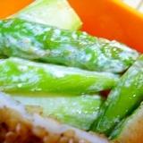 お弁当に彩り!緑!アスパラガスのマヨネーズ炒め