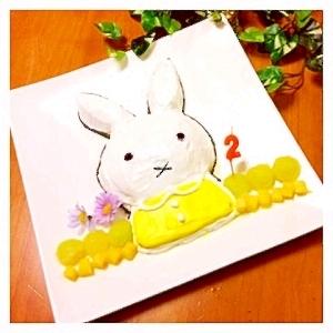 スイートポテトde立体キャラケーキ☆ミッフィー