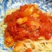 シーフードパスタトマトソース