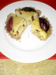 生プルーンで タルトケーキです♪