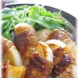 新玉ねぎの豚バラ肉巻き甘辛ソテー
