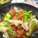 夏野菜豚シャブ素麺