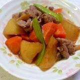 すき焼き風大根と牛肉の煮物