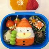 クリスマス弁当☆サンタ&ミニサンタとプレゼント☆