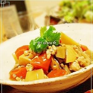根菜と鶏ひき肉のとろみ煮。.:*:'゚☆
