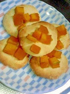残飯!^∀^!かぼちゃ煮のせスコーン