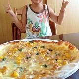 子供と作る、簡単ツナマヨコーンピザ