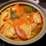 油揚げのピリ辛味噌鍋