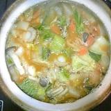 野菜たっぷり☆ホタテの坦々雑炊