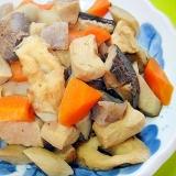 高野豆腐と根菜こんにゃくの炒め煮