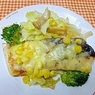 鮭と野菜のチーズ蒸し
