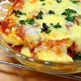 ポテト&ミートソースのチーズ焼き