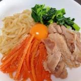 豚こま肉で☆野菜たっぷりビビンバ